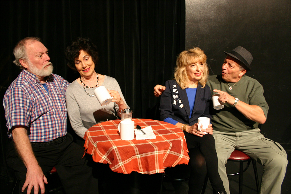 Dave O'donnell (Stan), Cardi Fleck (Susan), Carol Melnick (Ann) and Louie Bartolomeo (Mort)