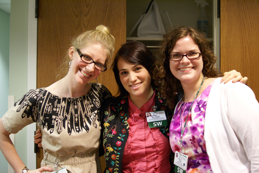 Anne Millheiser, MSW, LCSW (center) and other Rush staff