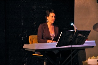 Julie B. Nichols, Musical Director and Accompanist. Julie keeps the band tight.