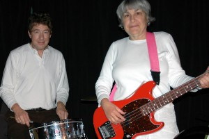 Ken Stefancich (angel-drummer) and Paula Lange (bass guitar)