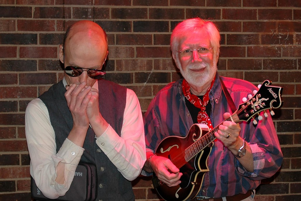 Jimmy Reagan (harmonica) and Steve Bishop (guitar & mandolin)